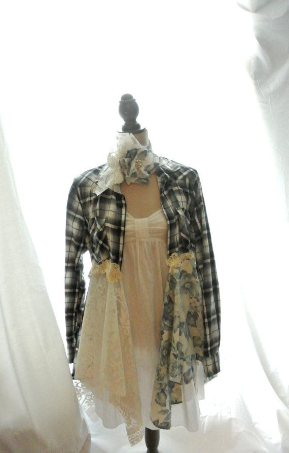 Romantic Lagenlook tunic punk duster fall by TrueRebelClothing, $86.00