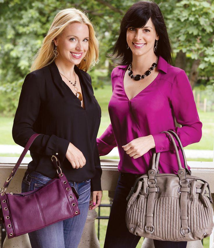 Katy Handbag - Plum Madison Handbag - Slate Find out more at www.EverydayStyle.com