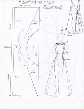 Blue print for Surcoat by ~Persphonefallen on deviantART