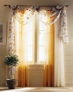 Light Material Curtains for Small Windows: Beautiful Orange Curtains For Small Windows ~  Decoration Inspiration