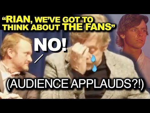 """Spread the love - Compartir en Redes Sociales VERY SAD! Mark Hamill is devastated on a panel for The Last Jedi. During a panel for The Last Jedi. Mark Hamill: """"I told Rian Johnson: You've got to think of the fans!"""", but he said NO!"""