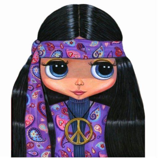 Vocabulario en imágenes. Maestra de Infantil y Primaria.: Dibujos, muñecas y símbolos hippies