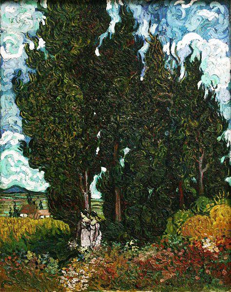 Cipressi con due figure, Vincent Van Gogh, 1889