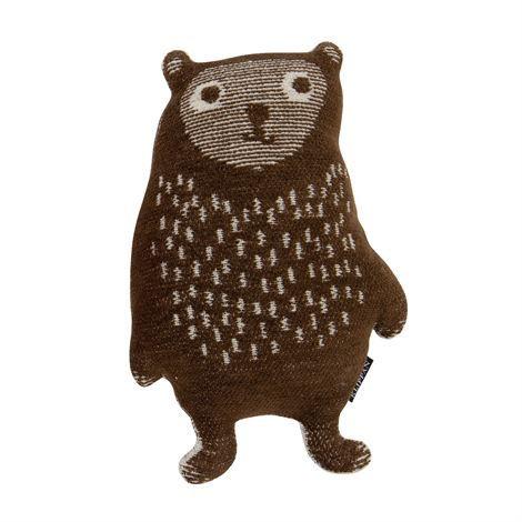 Little Bear Kuscheltier - braun - Klippan Yllefabrik