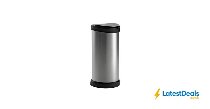 Curver 40 Litre Deco Touch Top Kitchen Bin - Silver, £19.99 at Argos