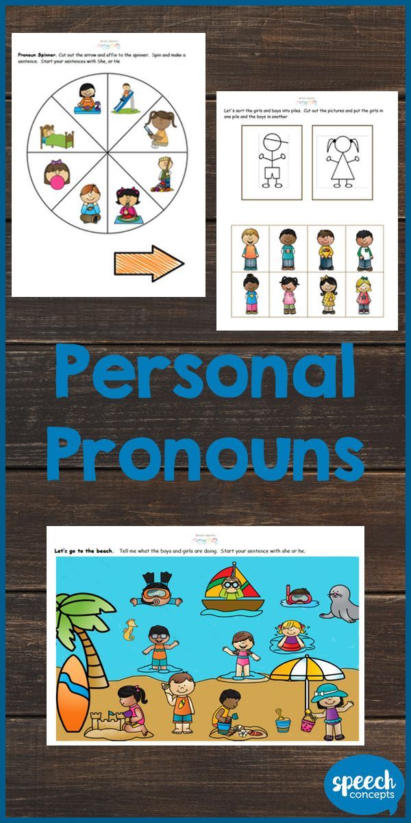 Let's work on personal pronouns - she, he and they.  The resource works to build student's awareness of pronouns through to using them at word level through to sentences.