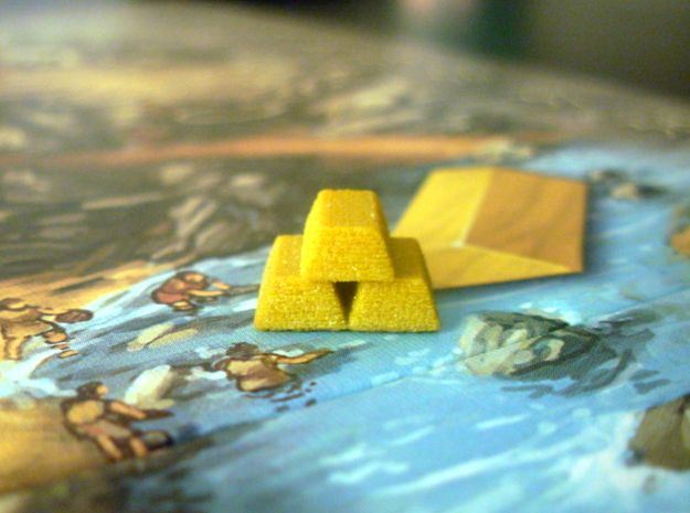 Gold Bars For Stone Age by BrettWoodard -- my husband designs a lot of sweet board game pieces for 3D printing.