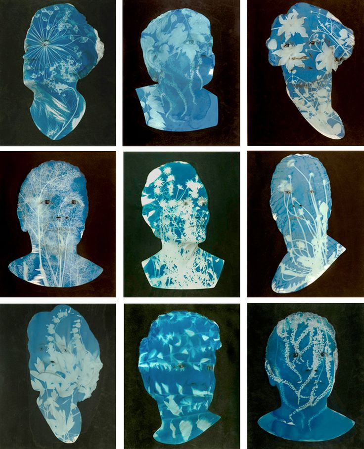Cyanotype portraits from the Natural Histories series by photographers Barbara Ciurej and Lindsay Lochman.