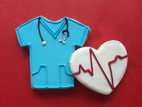 Nurse Blue Scrubs Cookies