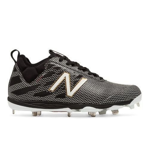 Low-Cut 406 Metal Cleat Men's Low-Cut Cleats Shoes - Black/Silver (L406BG1)