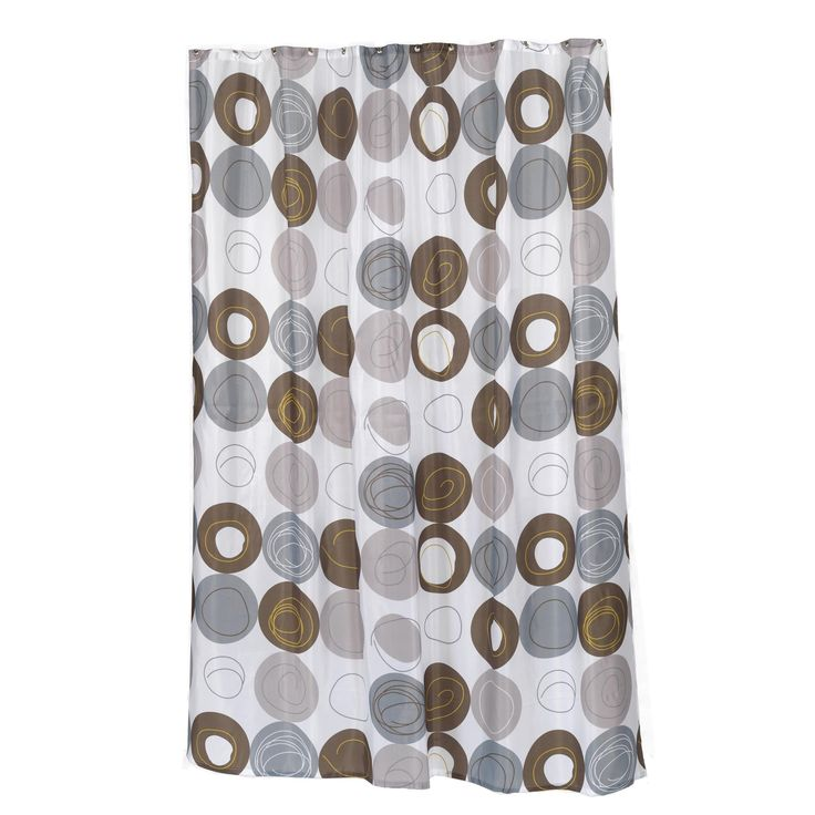 """Carnation Home Extra Long """"Madison"""" Fabric Shower Curtain, Size 70"""" Wide x 96"""" Long"""