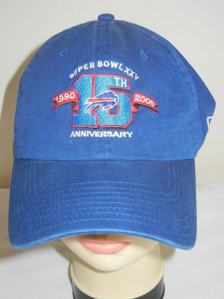Buffalo BIlls Super Bowl XXV 15th Anniversary OSFA baseball hat cap New Era blue #NewEra #BuffaloBills