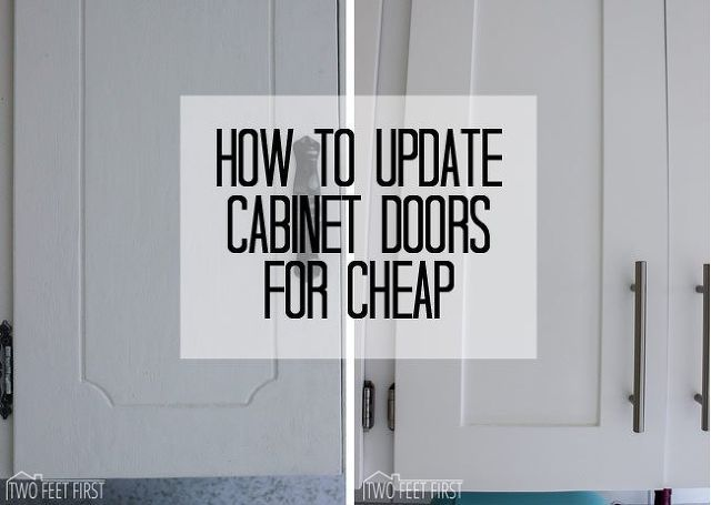 update cabinet doors to shaker style for cheap, closet, diy, doors, kitchen cabinets, kitchen design