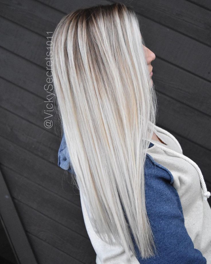 Melted roots blonde highlights