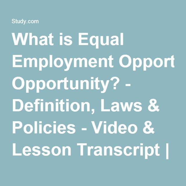equal opportunities legislation essay Equal employment opportunity commission (eeoc) essay sample the filing of a complaint through the equal employment opportunity commission (eeoc) can be filed by an employee in a private sector organization by going to the nearest eeoc office in person or through mail.