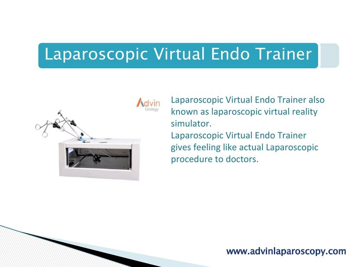 Laparoscopic Virtual Endo Trainer Laparoscopic Virtual Endo Trainer also known as laparoscopic virtual reality simulator. Laparoscopic Virtual Endo Trainer gives feeling like actual Laparoscopic procedure to doctors. It has designed & developed to give the picture as true as laparoscopic camera,without regular laparoscopic video camera,Light source,Telescope & Fiber optic cable. It has 2 to 5 Holes for Instrument and Laparoscope.