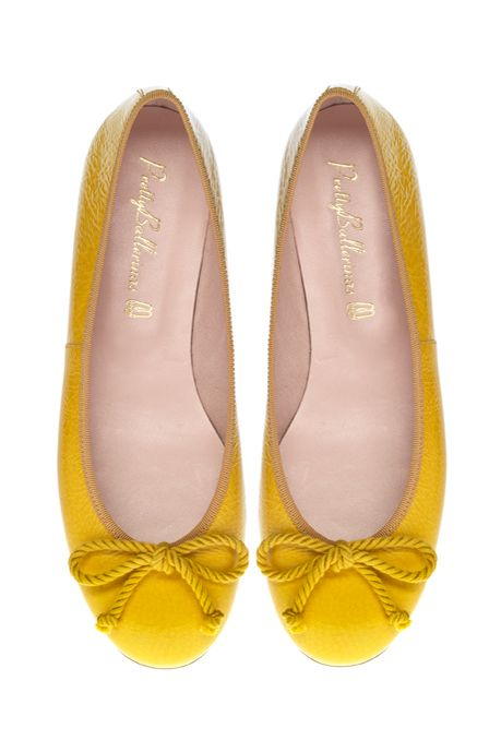 yellow ballet shoes