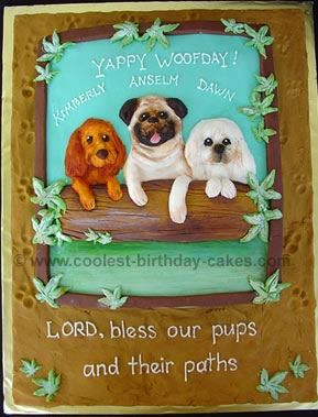 Birthday Cake To Celebrate Dogs Birthdays
