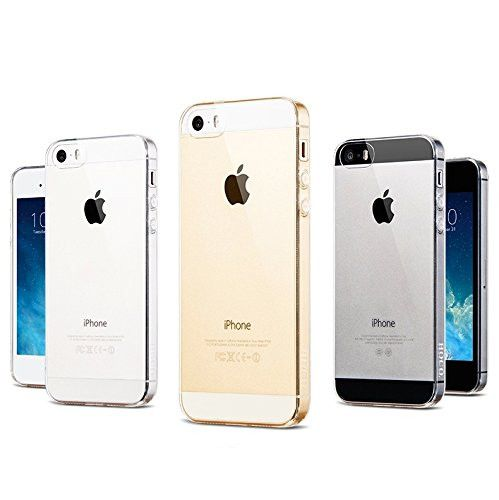iPhone 5/5S Protective Case, Gembonics Slim Flexible TPU Case for iPhone 5 / 5S, Full Back and Side Shockproof - Transparent