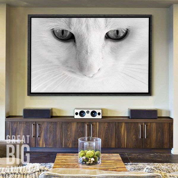 Share the magic of seeing a subject up close and personal by featuring oversized canvas art