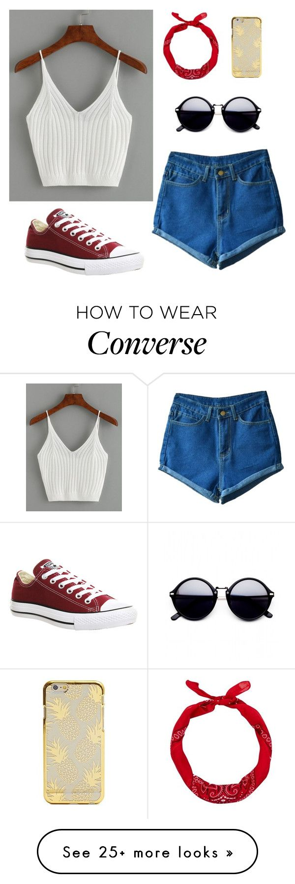"""Summer Style 316"" by mrswilkinson on Polyvore featuring Converse and New Look"