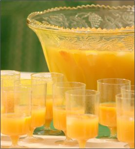 Yummy Yellow punch with pineapple, orange and apple juices...and a few other things.