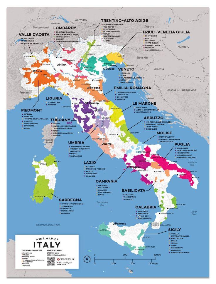 Italy Wine Map Italy Map Wine Folly Italian Wine