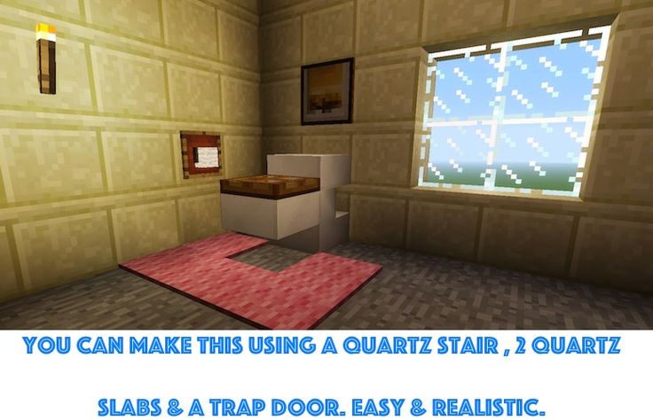 minecraft toilet! check out craftyminecraft.com for more furniture ideas and building ideas.
