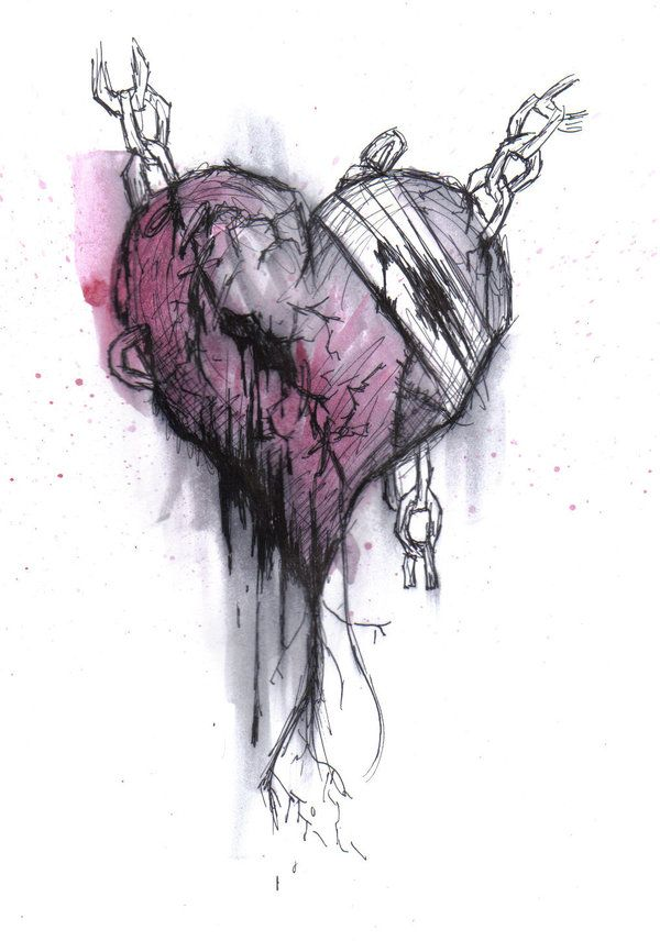 Emo Heart Drawings | Emo by CrypticNinjaFangirl