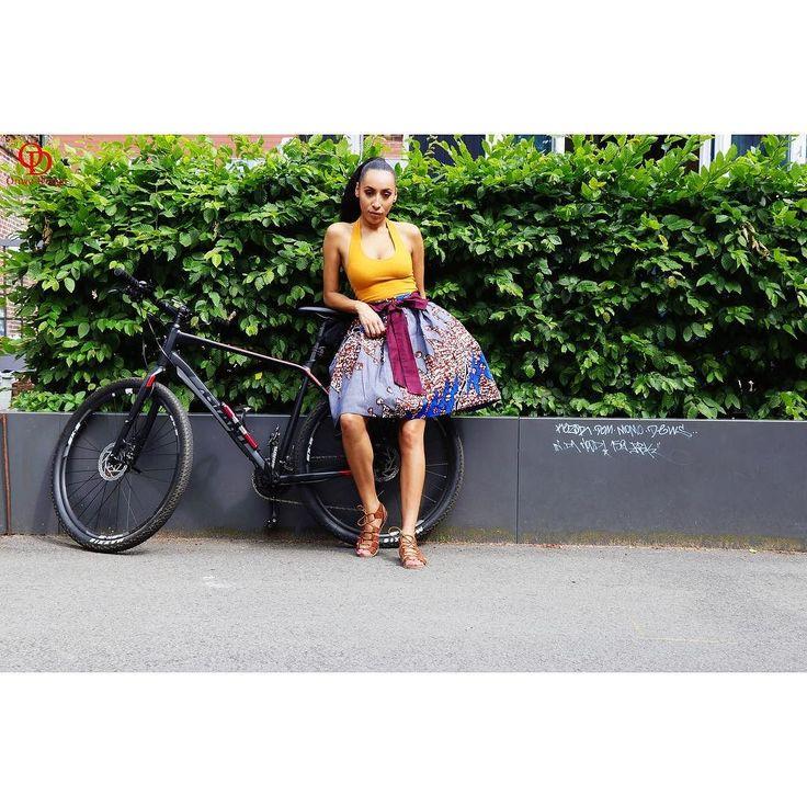 'Life is like riding a bicycle. To keep your balance you must keep moving'      Stylist  @donata_burmester  Model  @m.p_aimee  Skirt....www.oriwo-design.de #oriwodesign #work  #selfemployed #girlboss #hardworking #focus #fashionshoot #entrepreneur #womanentrepreneur #iwearafrican #fashionshooting #adayinmylife #hamburg  #africanfashion #midiskirt #girlsruntheworld #freelancemodel #model #photography #africanprint #fashionphotography #africanwoman #queen #africanqueen #bicycle #blackgirlmagic…