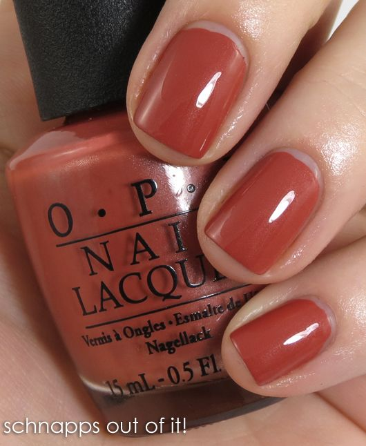 Schnapps Out of It!Chocolates Trifles, Orange Fall Nails, Fall Favorite, Nails Colors, Fall Colors For Nails Ideas, Nails Polish, Opi Polish Fall, Summer Colors, Opi Schnapps