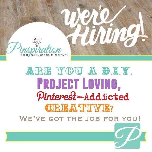 Are you a DIY project-loving Pinterest-addicted creative who is looking for a weekend job? Likeonly the best job ever?! You are in luck! We are headed into the busy holiday season and GROWING! Pinspiration is looking for part-time creative assistants to help on the weekends during studio hours! This includes regular project crafting assistance special events holiday parties birthday parties and more. Please bring your resume by the store or email it to us at info@pinspirationaz.com. Tag…
