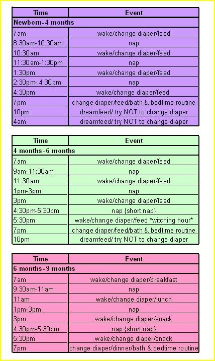 Baby sleep schedule 00007