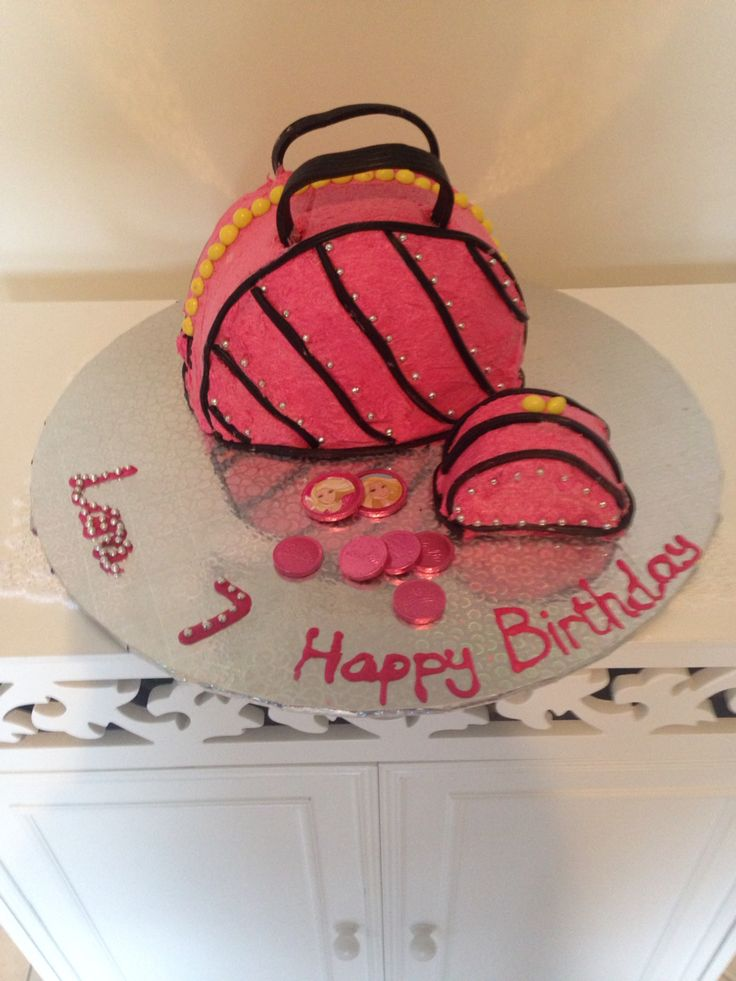 Barbie handbag cake