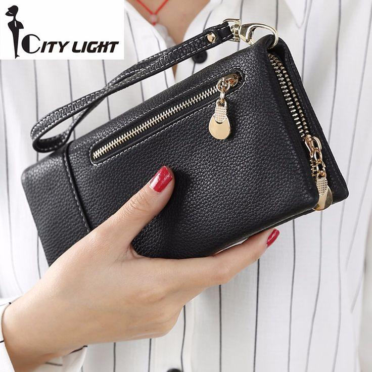 2016 nuove donne di Modo dei raccoglitori delle signore borsa a mano con cerniera disegno lungo portafogli piccolo pacchetto della carta del raccoglitore