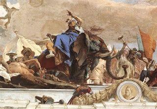 Affresco raffigurante il Continente asiatico, dipinto da Gian Battista Tiepolo nel 1753; Castello di Würzburg, Baviera.