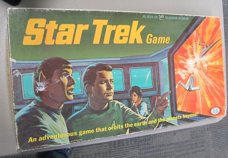 Star Trek Board Game Vintage Ideal 1967