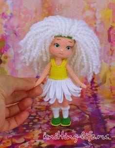 Бесплатное описание вязания куколки Ромашки