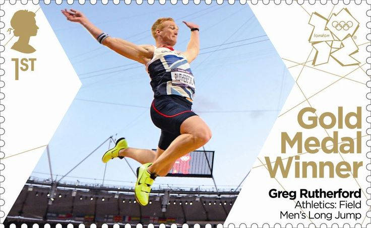 Team GB Gold Medal Winners 1st Stamp (2012) Athletics: Field Men's Long Jump - Team GB Gold Medal Winners