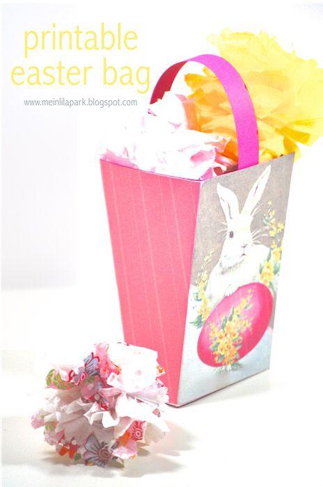 Free printable DIY easter bunny box - ausdruckbarer Osterkorb - freebie | MeinLilaPark – DIY printables and downloads