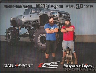 2016 the #diesel brothers #diablosport chevy sema show #promo info card, View more on the LINK: http://www.zeppy.io/product/gb/2/381916112776/