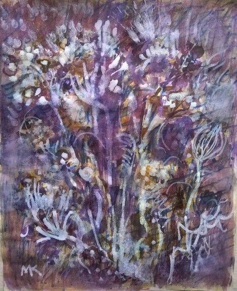 Mihaela Marilena Chitac, PURPLE GARDEN on ArtStack #mihaela-marilena-chitac #art