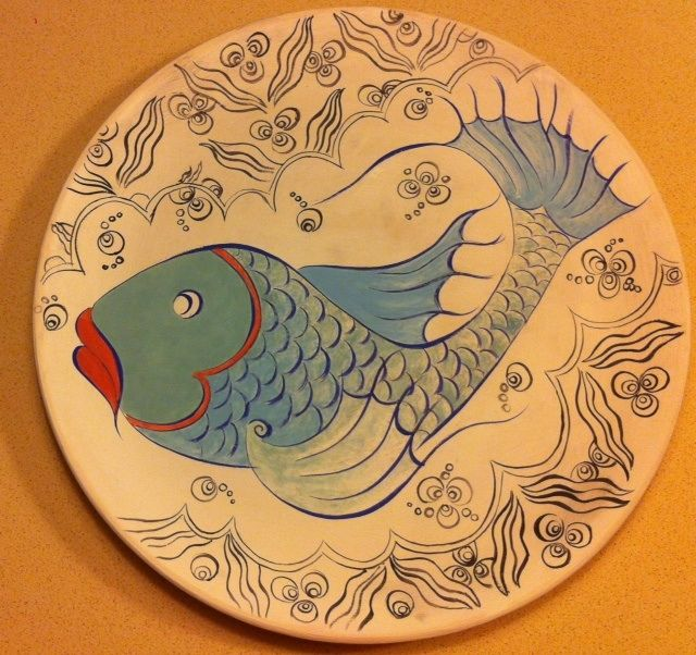 MADE BY Benian arsiray @benianarsiray  step by step şeker balığım çini ceramic tile