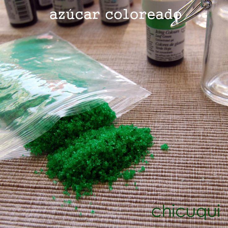 Cómo hacer azúcar coloreado o sanding sugar
