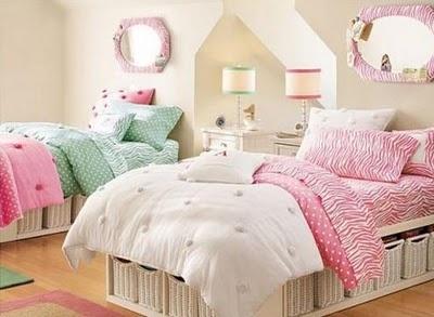 Love the basket storage under bed!!