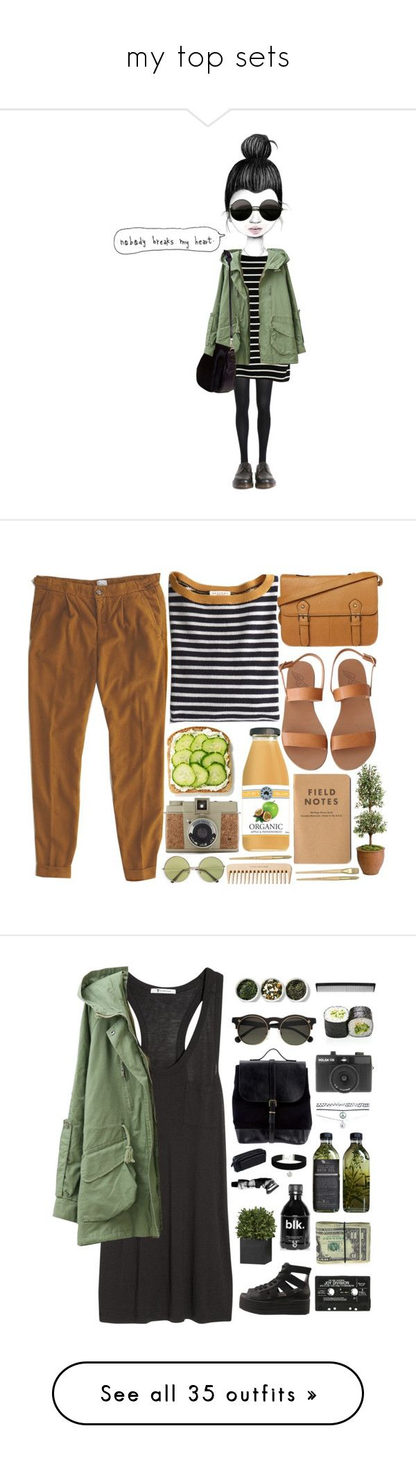 """my top sets"" by amy-lopezx ❤ liked on Polyvore featuring Bardot, Dr. Martens, GE, Nomadic, Pomandère, Demylee, even&odd, Ancient Greek Sandals, Lomography and Ethan Allen"
