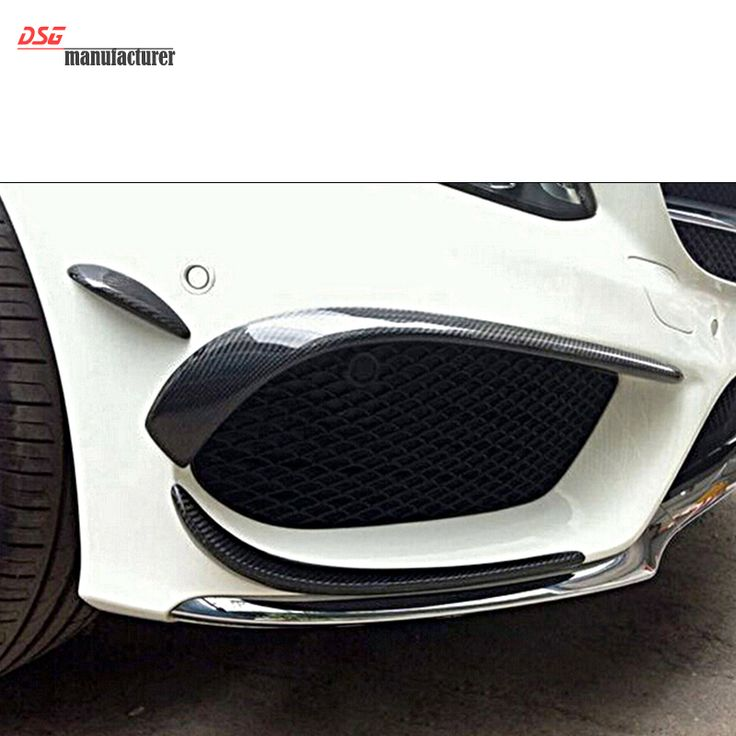 Mercedes W117 carbon fiber front bumper canards with spoiler flap splitters for benz CLA45 CLA180 CLA 200 CLA250 w/ AMG packet