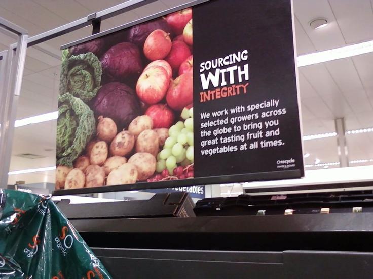 Sourcing pos, Sainsbury's (2010)
