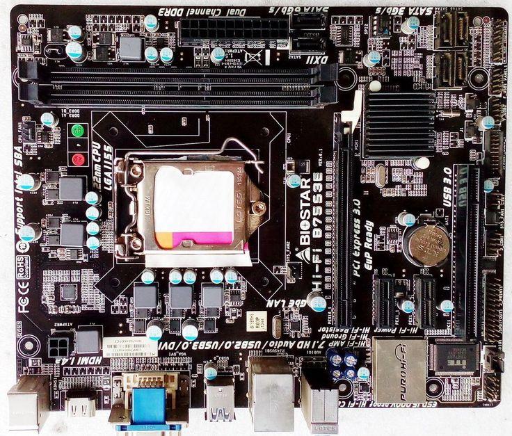 BIOSTAR Hi-Fi B75S3E Intel B75 Motherboard Socket 1155 LGA1155 DDR3 MicroATX  #Biostar
