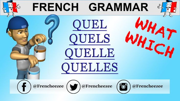FRENCH GRAMMAR - QUESTION WORDS - ASKING WHICH / WHAT QUESTIONS WITH QUEL